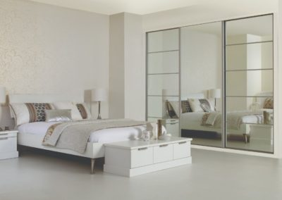 Sliding Wardrobe Silver Mirror 5 Bedroom
