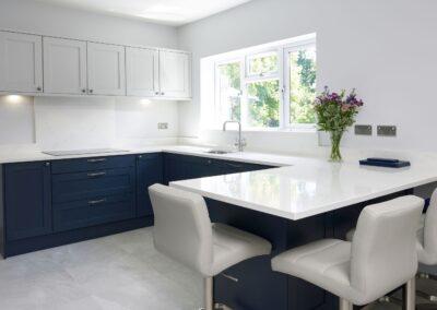 Oxford Blue Modern Shaker Kitchen 1