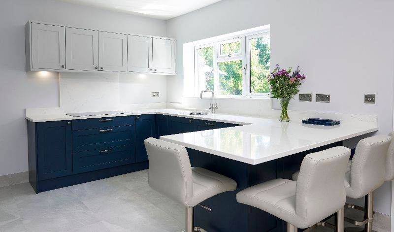 Oxford Blue Modern Shaker Kitchen