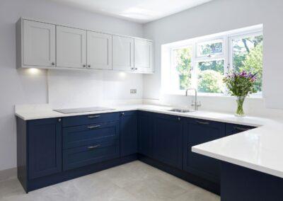 Oxford Blue Modern Shaker Kitchen 2