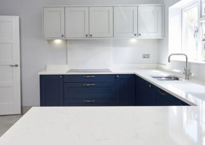 Oxford Blue Modern Shaker Kitchen 3