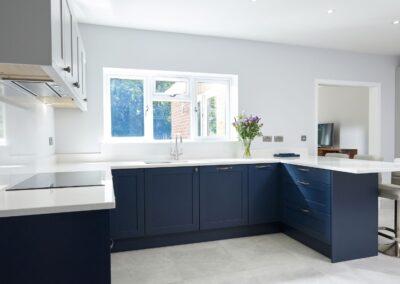 Oxford Blue Modern Shaker Kitchen 4